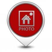 Photo pointer icon on white background — Stock Photo