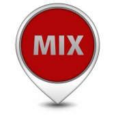 Mix pointer icon on white background — Stock Photo