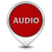 Audio pointer icon on white background — Stock Photo