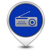 Radio pointer icon on white background — Stok fotoğraf