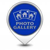 Photo galery pointer icon on white background — Stock Photo