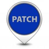 Patch pointer icon on white background — Stok fotoğraf