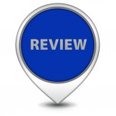 Review pointer icon on white background — Stock Photo