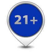 21 pointer icon on white background — Stock Photo