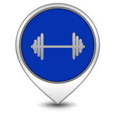 Gym  pointer icon on white background — Photo