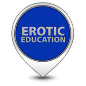 Erotic Education pointer icon on white background — Stock fotografie