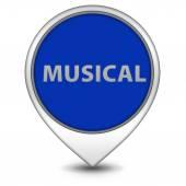 Musical pointer icon on white background — Foto de Stock