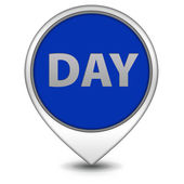 Day pointer icon on white background — Stock Photo