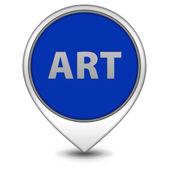 Art pointer icon on white background — Stock Photo