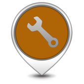 Tools pointer icon on white background — Stock fotografie