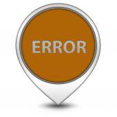 Error pointer icon on white background — Stock Photo