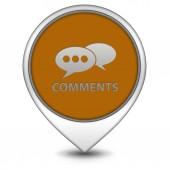Comentarios ahora puntero en icono de fondo blanco — Foto de Stock