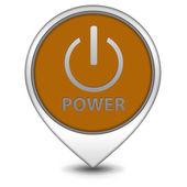 Power pointer icon on white background — Stock Photo