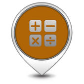 Calculate pointer icon on white background — Stock Photo