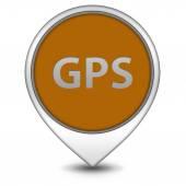 白い背景の上 gps ポインター アイコン — ストック写真