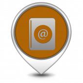 Email pointer icon on white background — Stok fotoğraf