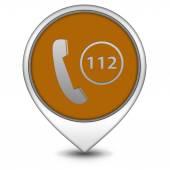 112 pointer icon on white background — Stok fotoğraf