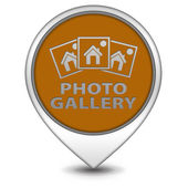 Photo galery pointer icon on white background — Stock Photo