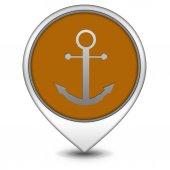 Anchor pointer icon on white background — Stockfoto