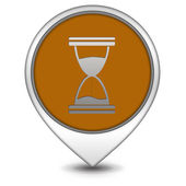 Hourglass pointer icon on white background — Stock Photo