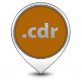.cdr pointer icon on white background — ストック写真