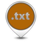 .txt pointer icon on white background — Stock Photo