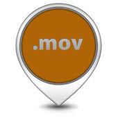 .mov pointer icon on white background — Stock Photo