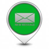 New message pointer icon on white background — Stock Photo