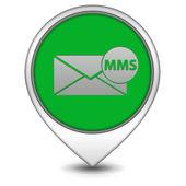 Mms pointer icon on white background — Stock Photo