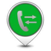 Calls pointer icon on white background — Stock Photo