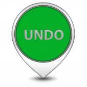 Undo pointer icon on white background — Stock Photo