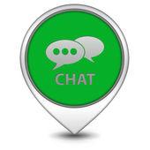 Chat muisaanwijzer op witte achtergrond — Stockfoto