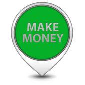 Make money pointer icon on white background — Stock fotografie