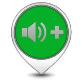 Volume pointer icon on white background — Stock Photo