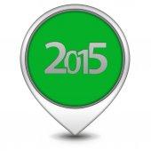2015 pointer icon on white background — Stock Photo
