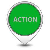 Action pointer icon on white background — Stock Photo