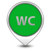 WC pointer icon on white background — Stock Photo