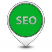 Seo pointer icon on white background — Stock Photo