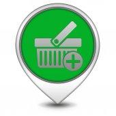 Add to basked pointer icon on white background — Stock Photo