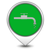 Water pointer icon on white background — Stock Photo