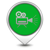 Camera pointer icon on white background — Stock Photo
