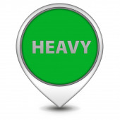Heavy pointer icon on white background — Foto de Stock