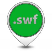 .swf pointer icon on white background — Stockfoto