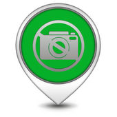 Ban shooting pointer icon on white background — Stock Photo