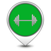 Gym  pointer icon on white background — Foto de Stock