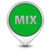 Mix pointer icon on white background — Stock Photo