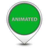 Animated pointer icon on white background — Stock Photo