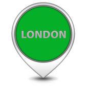 London pointer icon on white background — Stock Photo