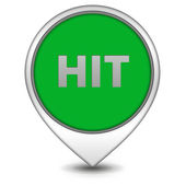Hit pointer icon on white background — Stock Photo