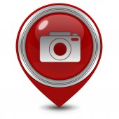 Photo pointer icon on white background — Stock Photo